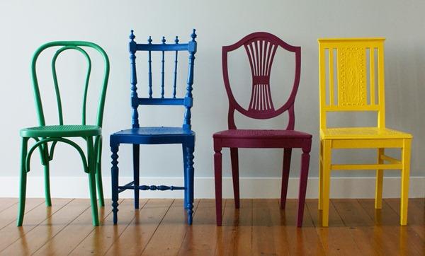 Cadeiras Vintage Color - REuse