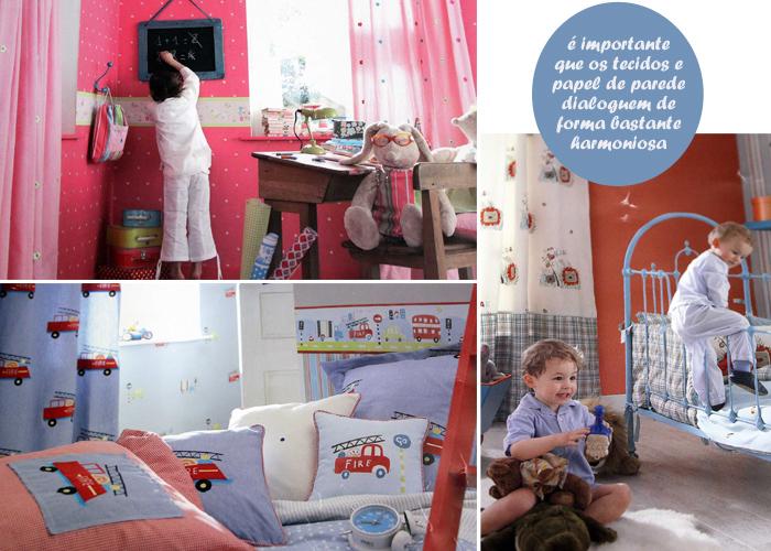 decoração com tecidos - quarto de bebê