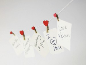 Romantic Messages on a Clothesline
