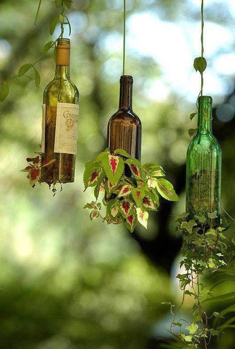 vasos invertidos + garrafas + como fazer
